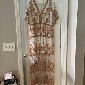 Altar'd State -A Beautiful Soul Leadore Maxi Dress